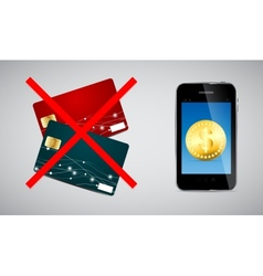 Credit card and Phone vector image