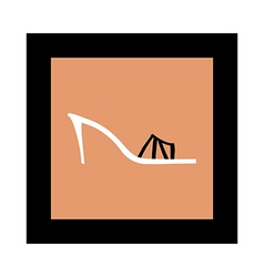 The shoe of frame vector