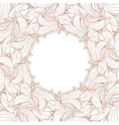 Frame made of magnolia soulangeana flowers vector