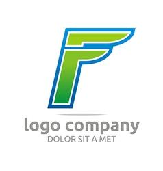 Logo letter f alphabet green company symbol icon vector