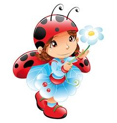 Ladybug Girl vector image