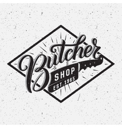 Butcher shop logotype vector image