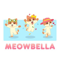 Meowbella female cat vector