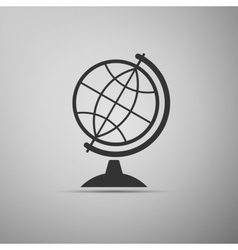 Geography earth globe icon vector