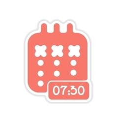 Paper sticker on white background notebook vector