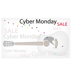 Acoustic guitars background of for cyber monday vector