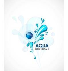 Aqua background vector