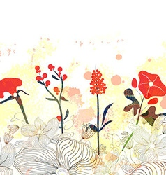Beautiful floral watercolor background vector
