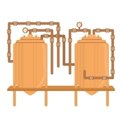 Beer tanks icon image design vector