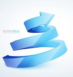blue 3d sprial arrow vector image vector image