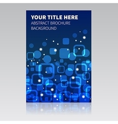Blue abstract brochure background vector