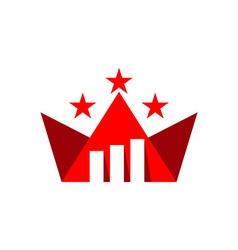 Business star finance logo vector