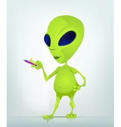Cartoon Alien teacher vector image vector image