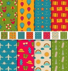 Collection Colorful Seamless Wallpapers or vector image vector image