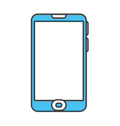 Color contour with modern cellphone vector