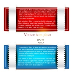 Colorful bookmarks for text Red and blue paper vector image vector image