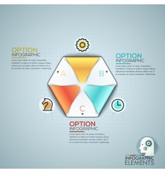 Colorful infographic design template with vector
