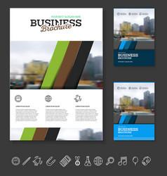 company flyer vector image vector image