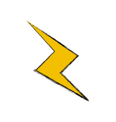 Drawing thunderbolt power climate image vector