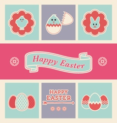 easter design elements and icons set vector image