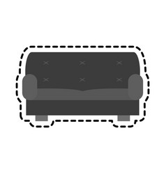 Gray couch icon vector