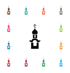 Isolated steeple icon church element can vector