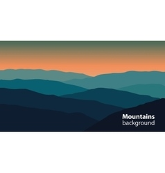 Landscape with mountains and hills extreme sports vector