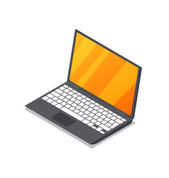 laptop device isometric 3d icon vector image