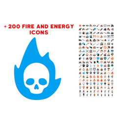 Mortal flame icon with bonus flame clipart vector