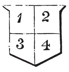 Quartered per cross has an horizontal and vector