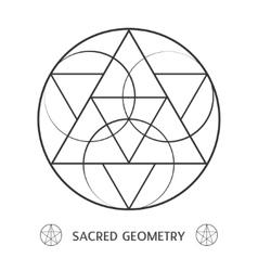 sacred geometry symmetric symbol vector image vector image