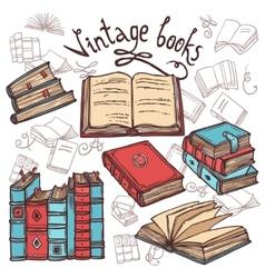 Sketch Books Set vector image