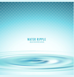 transparent water ripple background vector image vector image