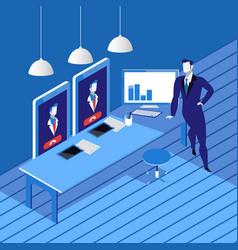 videoconferencing concept in vector image vector image