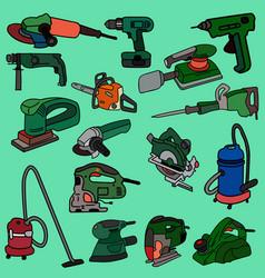 Working construction tools vector