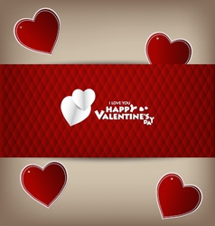 Valentine hearts card vector