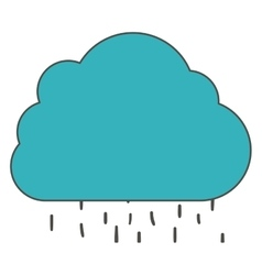 Isolated cloud and rain design vector