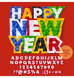 Sticker Happy New Year 2017 greeting card vector image