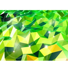Green abstract background with triangles vector