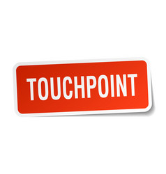 Touchpoint square sticker on white vector