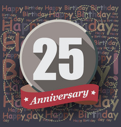 25 happy birthday background or card vector
