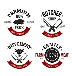 Butchery emblems 1 vector