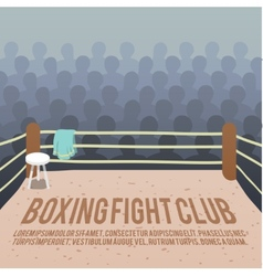 Boxing ring background vector