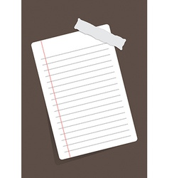 sheet of paper stuck with sticker vector image