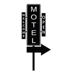 motel signboard vector image