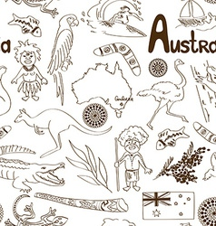 Sketch australia seamless pattern vector