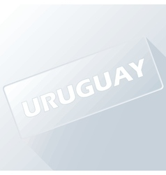 Uruguay unique button vector