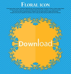 Download now icon load symbol floral flat design vector