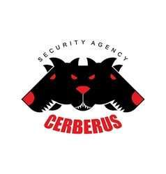 Security agency cerberus logo for security company vector
