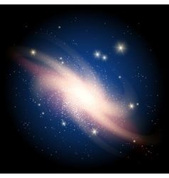 Galaxy background with sparkling stars vector image